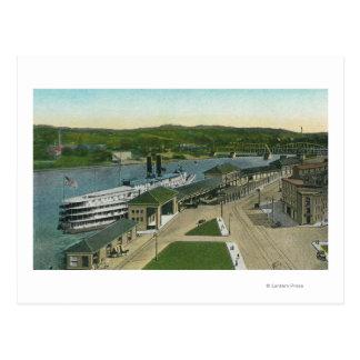 Lucht Uitzicht van het Dok van de Navigatie Hudson Briefkaart