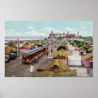 Lucht Uitzicht van het Strand van CityCoronado van Poster