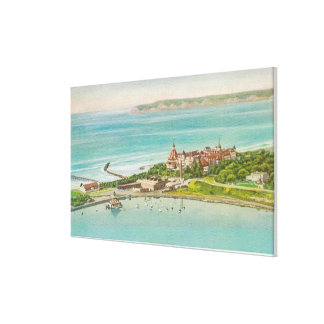 Lucht Uitzicht van Hotel del Coronado Canvas Afdruk