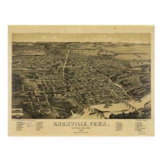 Lucht Uitzicht van Knoxville Tennessee van 1886 Briefkaart