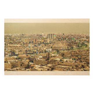 Lucht Uitzicht van Lima Rand, Peru Hout Afdruk