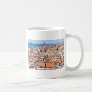 Lucht uitzicht van Lissabon, Portugal Koffiemok