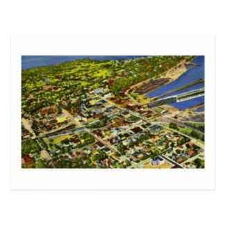 Lucht Uitzicht van Marquette, Michigan Briefkaart