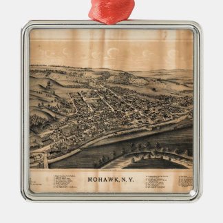 Lucht Uitzicht van Mohawk, New York (1893) Zilverkleurig Vierkant Ornament