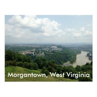 Lucht Uitzicht van Morgantown WV, de Briefkaarten