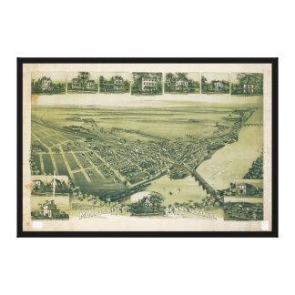 Lucht Uitzicht van Morrisville, Pennsylvania Canvas Print