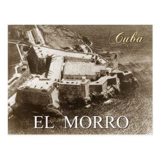 Lucht uitzicht van Morro Kasteel, Havana, Cuba Briefkaart