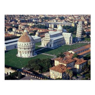 Lucht uitzicht van Pisa, Italië Briefkaart