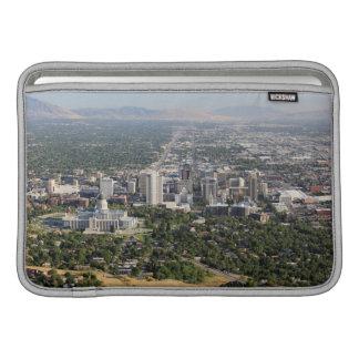 Lucht uitzicht van Salt Lake City van de binnensta MacBook Air Sleeves