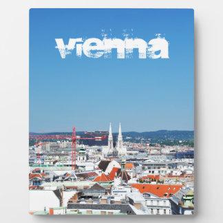 Lucht uitzicht van Wenen, Oostenrijk Fotoplaat