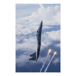 Luchtmacht F-15 Eagle Poster