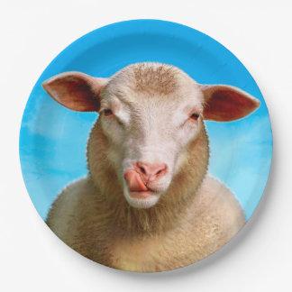 Lucie de schapen papieren bordje