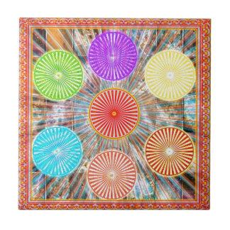 LUCKY7 de zegen Goodluck Chakra maakt Cirkels rond Tegeltje