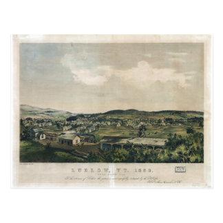 Ludlow Vermont van de Heuvel van het Zuiden (1859) Briefkaart