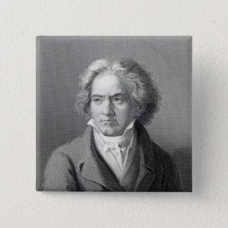 Ludwig van Beethoven Vierkante Button 5,1 Cm