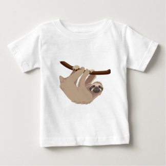 Luiaard drie Toed Baby T Shirts