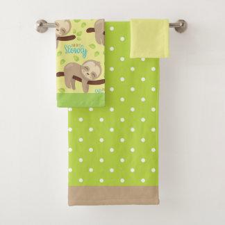 Luiaard van het Baby van kinderen de Leuke Bad Handdoek