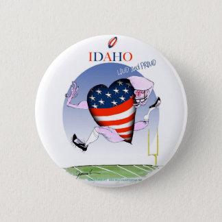 Luide en Trotse, tony fernandes van Idaho Ronde Button 5,7 Cm