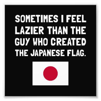 Luiere Japanse Vlag Foto Afdrukken
