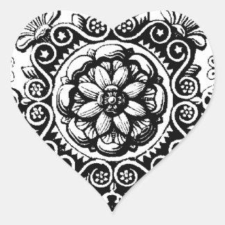 luim gescrolde hartsticker hart sticker