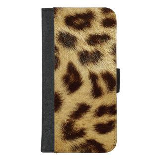 Luipaard Bevlekte iPhone 8plus van het Bont van iPhone 8/7 Plus Portemonnee Hoesje