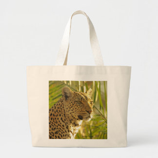 Luipaard met Palmbladen Jumbo Draagtas