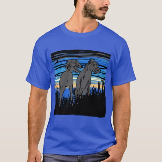 Lurchers overseeing the world t shirt