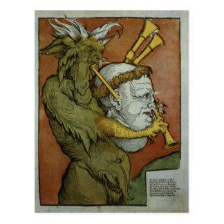 Luther als Doedelzakken van de Duivel, c.1535 Briefkaart