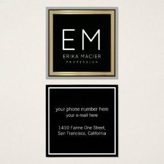 luxe elegante zwarte vierkante pro vierkante visitekaartjes