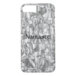 Luxe Zilveren Namaste iPhone 8/7 Hoesje