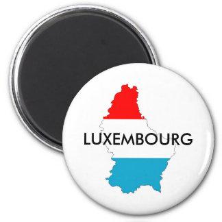 Luxemburg het silhouet van de de kaartvorm van de magneet