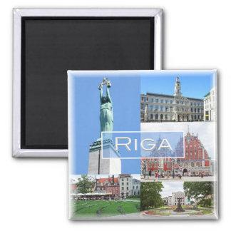 LV * Latvijas Republika Letland Lietuva - Riga Magneet