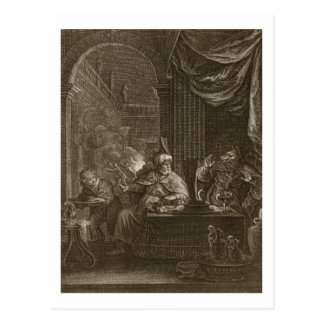Lycaon in een Wolf, 1731 (gravure die) wordt Briefkaart