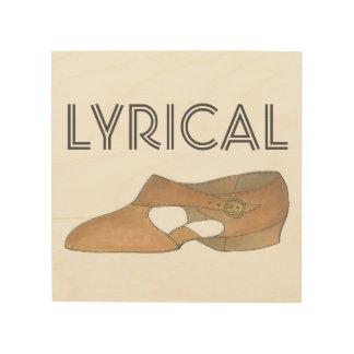 Lyrische Tan het Moderne Decor van de Schoen van Hout Afdruk