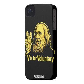 Lysander Spooner V is voor Vrijwillige iPhone4/4S iPhone 4 Hoesje