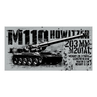 M110 houwitserDruk Poster