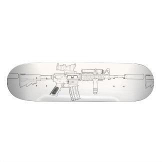 M4 het Wit van het Dek van het Skateboard van