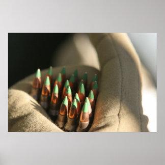 M855 de rondes van de 5.56 mmbal poster