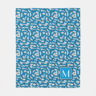 M. Bump   Blauw Patroon   van de Verwarring Fleece Deken