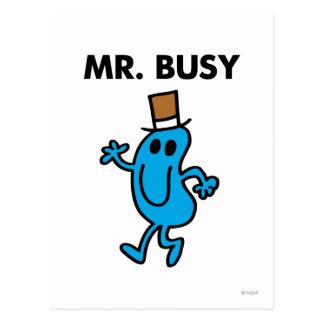 M. Busy Waving Hello Briefkaart