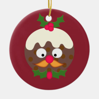 M. Christmas Pudding Rond Keramisch Ornament