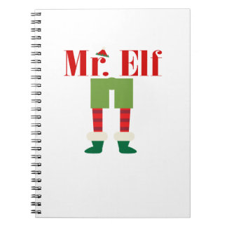 M. Elf Matching Couple Christmas Notitieboek