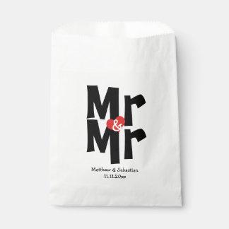 M. en M. Modern Wedding Personalized Bedankzakje