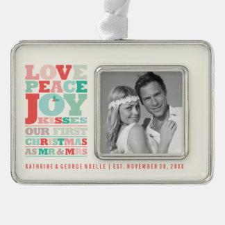 M. en Mevr. Holiday Photo Ornament van eerste