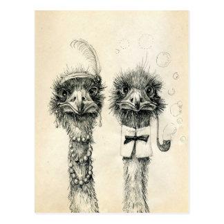M. en Mevr. Ostrich