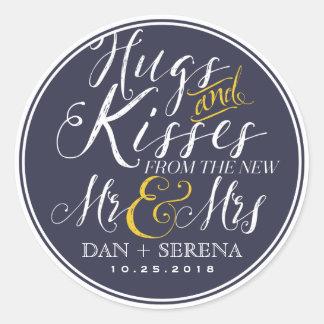 M. en Mevr. Wedding Favor Sticker van het
