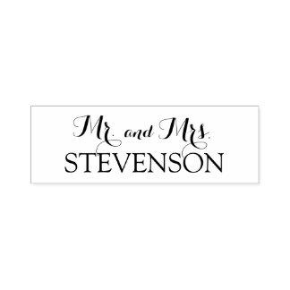 M. en Mevr. Wedding Stamper van de douane Zelfinktende Stempel
