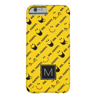 M. Happy   allen glimlacht Patroon   Monogram Barely There iPhone 6 Hoesje