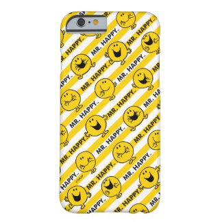 M. Happy   het Gele Patroon van Strepen Barely There iPhone 6 Hoesje