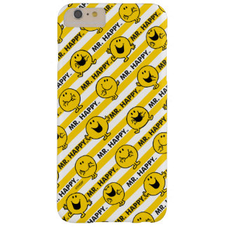 M. Happy   het Gele Patroon van Strepen Barely There iPhone 6 Plus Hoesje
